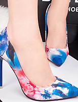 Women's Shoes Silk Stiletto Heel Heels Pumps/Heels Party & Evening/Dress/Casual Blue/Pink