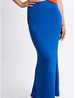 Women's Blue/Red/Brown Skirts , Sexy Maxi