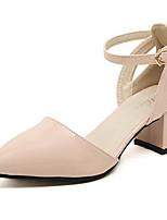 Women's Shoes Chunky Heel Heels Pumps/Heels Outdoor/Casual Pink/White/Silver