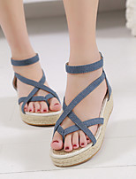 Women's Shoes Fabric Wedge Heel Slingback Sandals Dress More Colors available