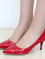 Women's Shoes Stiletto Heel Pointed Toe Pumps/Heels Dress Black/Red/White/Gray