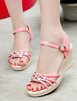 Women's Shoes Sweet Wedge Heel Peep Toe Platform Sandals