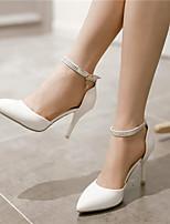 Chaussures Femme Similicuir Talon Aiguille Bout Pointu Escarpins / Talons Habillé/Soirée & Evénement Rose/Rouge/Blanc