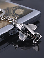 Stainless Steel Model Aircraft Air Plane Key Chain Ring Keyring