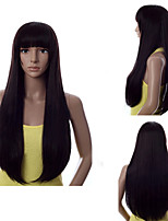 Color #1B Straight Hair Wigs Synthetic Hair Wigs Europe Style
