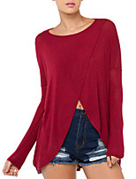 Women's Sexy Micro-elastic Long Sleeve Long T-shirt (Mesh)