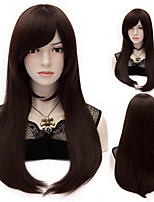 European Style Fashion Hair Dark Brown High Quality Synthetic Wigs