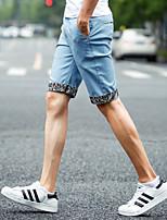 Men's Casual/Plus Sizes Pure Shorts Pants (Cotton/Cotton Blends)