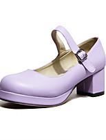 Girls' Shoes Casual Heels/Round Toe  Pumps/Heels Pink/Purple/Red