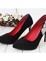 Women's Shoes Fleece Stiletto Heel Heels/Pointed Toe/Closed Toe Pumps/Heels Office & Career/Dress Black/Pink