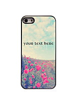 Personalized Gift Lovely Flower Design Aluminum Hard Case for iPhone 5/5S