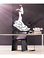 Dancing Girl DIY Mirror Wall Stickers Art Decals