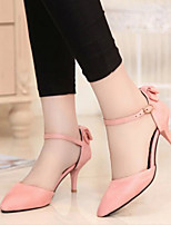 Women's Shoes Kitten Heel Pointed Toe Pumps with Bowknot