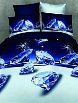 3d 4pcs impressão reativa cama define luxo incluem duvet cover lençol fronha