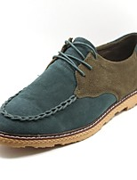 Men's Shoes Casual Leather Oxfords Blue/Green/Gray