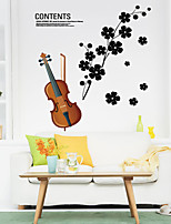 Wall Stickers Wall Decals Style The Violin PVC Wall Stickers