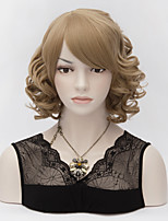 Office Lady Hot Fashion wig New Charm Women's Short Flaxen Brown Curl Natural Hair Full wigs