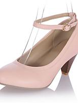 Women's Shoes  Kitten Heel Round Toe Pumps/Heels Outdoor/Office & Career/Casual Black/Pink/Beige