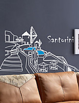 Wall Stickers Wall Decals, Modern Santorini island building PVC Wall Stickers