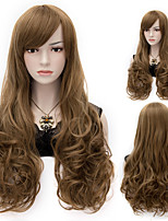 European Style Fashion Hair Brown High Quality Synthetic Wigs