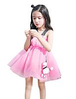 Kids Girls Gauze Princess Party tutu Skirt Mini Sleeveless Dresses (Cotton Blends/Mesh)