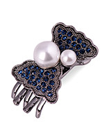 Woman's  Fashion Blue Coral Pearl Hairpin FMYJ013