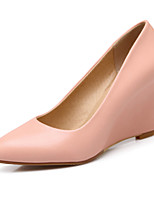 Women's Shoes Leatherette Wedge Heel Wedges / Pointed Toe Heels Casual Pink / Purple / White / Beige