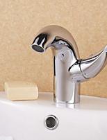 Shengbaier Contemporary Centerset Chrome Finish Bathroom Sink Faucet(short)