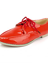 Girls' Shoes Casual Heels/Round Toe  Pumps/Heels Black/Pink/Red