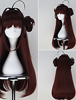 Kantai Collection Kongou Brown Color Long Straight Girl's Game Cosplay Wig with Bun