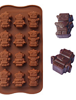 moldes para hornear en forma de robot de hielo / chocolate / molde de la torta