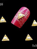 010 10pcs/lot DIY Nail Jewelry Decoration Triangles 3D Golden Rhinestone Nail Metal Alloy Nail Tools