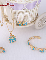 WesternRain 2015 Cute little elephant Pendants For Necklaces Gold Plated Baby Bracelet Children Jewelry Gift For Kids