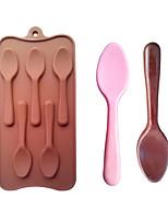 a forma di cucchiaio di cottura stampi ghiaccio / cioccolato / muffa della torta