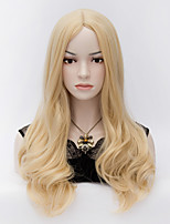 The European and American Wind Pale Gold Long Curly Hair Wig