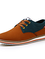 Men's Shoes Casual Leather/Fabric Fashion Sneakers Blue/Brown/Green