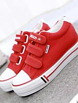 Zapatos de mujer - Tacón Plano - Creepers / Punta Redonda - Sneakers a la Moda - Exterior / Oficina y Trabajo / Casual - Tela - Rojo