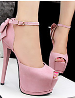 Women's Shoes Faux Fur Stiletto Heel Heels/Peep Toe Pumps/Heels Casual Multi-color