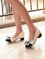 Women's Shoes  Kitten Heel Round Toe Pumps/Heels Office & Career/Dress Black/Green/Pink/Orange