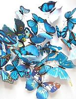 La simulation papillon stéréoscopiques stickers muraux