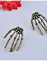 Gothic Style Skull's Hand Pattern Earrings