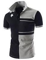 Herren Büro Polo  -  Druck Kurz Baumwolle/Polyester
