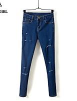 LIVAGIRL®Women's Pants Fashion High Waist Broken Hole Bodycon Slim Jeans Korean Style Casual Skinny Pants