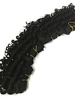 3pcs 7inch Brazilian Virgin Hair Deep Wave #1B Hair Weaves