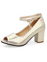 Women's Shoes Kitten Heel Heels Pumps/Heels Office & Career/Dress Pink/Silver/Gold