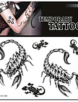 Tattoo Stickers Non Toxic/Pattern/Lower Back/Waterproof Animal Series Adult Black Paper 1 17*16 Scorpion