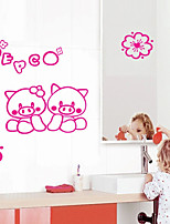 Wall Stickers Wall Decals Style Cartoon Pink Pig PVC Wall Stickers
