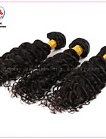 3 Bundles 10A Superior Quality Facroty Wholesale Unprocessed Brazilian Virgin 100% Human Hair Deep Curly Hair Weft