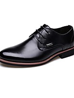 Men's Shoes Office & Career/Casual Leather Oxfords Black/Burgundy