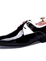 Men's Shoes Wedding Faux Leather Oxfords Black/Blue/White